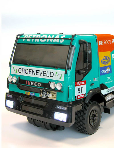 The Rally legends RC models Iveco Trakker