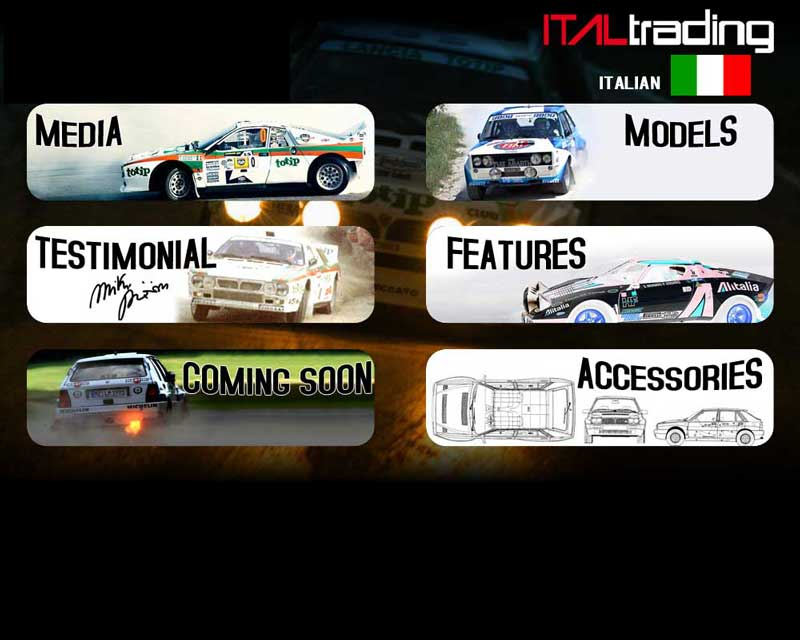 menu The Rally Legends by Italtrading